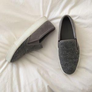 Vince Gray Slip On Sneakers
